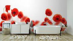 Fototapeta Mák květiny izolovaných na bílém pozadí ✓ Snadná instalace ✓ 365 denní záruka vrácení peněz ✓ Procházejte ostatní vzory z této kolekce!
