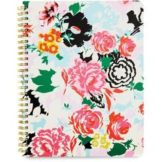ban.do Rough Draft Spiral Notebook, Florabunda ($10) ❤ liked on Polyvore featuring home, home decor, stationery, fillers, notebooks, accessories, backgrounds, decor and pink