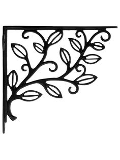 House of Antique Hardware Leafy Branch Cast Iron Shelf Bracket in Matte Black Wrought Iron Shelf Brackets, Cast Iron Shelf Brackets, Deck With Pergola, Outdoor Pergola, Pergola Plans, Metal Pergola, Pergola Kits, Pergola Lighting, Pergola Ideas