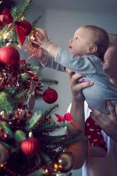 30 adorables photos pour immortaliser le premier Noël de bébé
