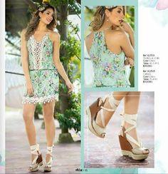 Vestido en chalis con estampado floral 2015 de Ebba. Moda colombiana