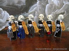 Apocalyptic Potion set dollhouse miniature in 1/12 by DarkSquirrel