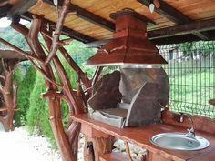 Gardenland.ro - Imbracat fantana, dulap cu blat de lucru si acoperis gratar - DIV 061