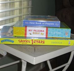 Creating a Daily Habit While They're Young - Teaching our little ones to read the Bible and pray is so important, and it's never to early to start modeling that for them. Here are some simple, practical ways that you can incorporate this into your daily routine.