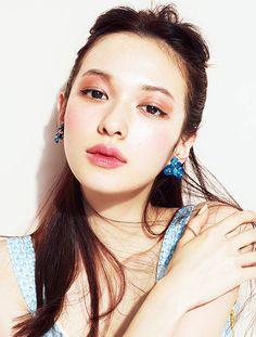 My Beauty, Asian Beauty, Hair Beauty, Makeup Art, Beauty Makeup, Hair Makeup, Colorful Makeup, Simple Makeup, Eyeliner Tape