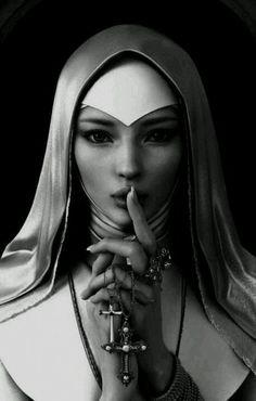 .#religious #editorial #fashion: Magnolias, Fashion Nun, Beauty Now, Nun Girl, Photo, Cross, Religiousfashion