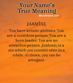Name true meaning of Jasmine