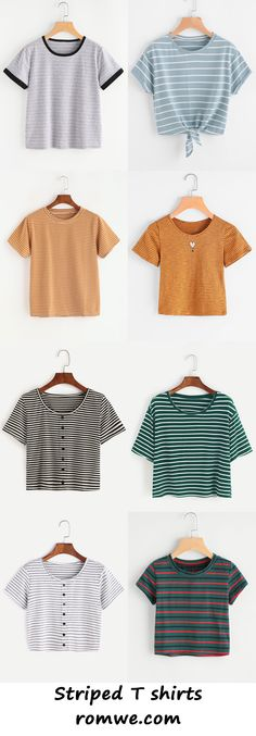 e01f4fbe384 striped t shirts collection 2017 - romwe.com Vestavěné Šatníky