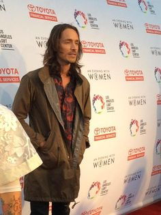 LALGBTCenter: Brandon Boyd from Incubus on the red carpet, supporting the Center and #LGBT community at AEWWLA!
