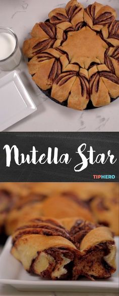Nutella Star Bread | All it takes is a couple of ingredients -- Nutella and crescent roll dough -- and some fancy twisting