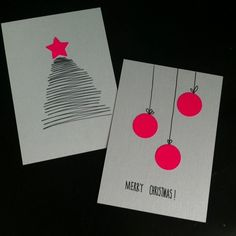 Oder wie man Weihnachtskarten schnell selbst basteln kann – Have you already written Christmas cards? Create Christmas Cards, Christmas Tag, Navidad Simple, Christmas Crafts, Christmas Decorations, Diy Cards, Homemade Cards, Card Making, Merry