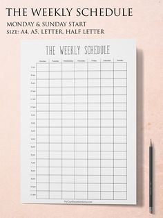 Weekly Time Schedules New Weekly Schedule Printable Hourly Planner Pages Weekly Time Etsy Weekly Hourly Planner, Time Planner, Study Planner, Weekly Planner Printable, Weekly Calendar, Weekly Schedule, Planner Template, Planner Pages, Time Schedule