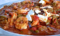 Greek Recipes, Feta, Shrimp, Seafood, Food And Drink, Breads, Fancy, Sea Food