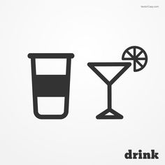 Drink icons - wineglass (cocktail), free vector