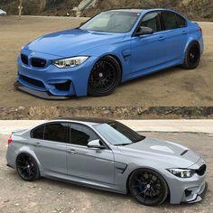 BMW F80 M3 duo blue grey
