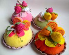 Tortinha de Cereja e Morango - Ana Tuyama - crafts