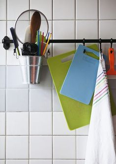 Keep utensils within easy reach with open storage  Lots of great ideas here!