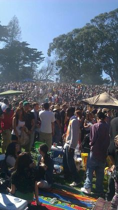 I Would love to go to Hippie Hill in San Francisco. Inside Golden Gate Park from the Haight.