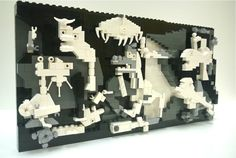 An All-LEGO brick recreation of Picasso's Guernica created by LEGOLAND Discovery Center Westchester's Master Model Builder Veronica Watson.