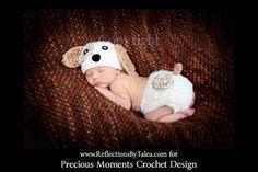Bebé cachorro sombrero del bebé recién por PreciousMomentsProps, $38.00