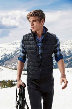 1d0bfb776b05fe Polo Holiday Paneled Full Zip Vest Puffer Vest Outfit
