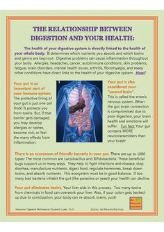 The Relationship between Digestion and YOUR Health  by www.AuNaturaleNutrition.com