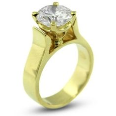 3.01 CT VG-Cut Round I-VS2 GIA Cert Diamond 18k Gold Cathedral Solitaire Engagement Ring 8.80gr
