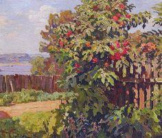 Константин Иванович Горбатов. Пейзаж с изгородью