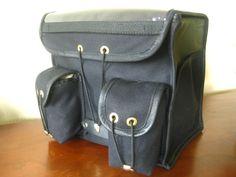RuthWorks SF: Black and Green Randonneur handlebar bag