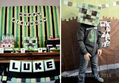 Boy's Minecraft Birthday Party Decor Ideas www.spaceshipsandlaserbeams.com