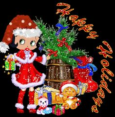 Merry Christmas Quotes, Christmas Blessings, Christmas Fun, Happy Holidays Images, Happy Holidays Wishes, Imagenes Betty Boop, Betty Boop Cartoon, Vintage My Little Pony, Betty Boop Pictures
