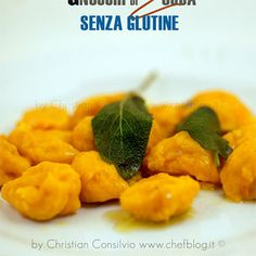 Gnocchi di zucca senza glutine Gluten Free Cooking, Gluten Free Recipes, Vegan Recipes, Cooking Recipes, Sin Gluten, Gluten Free Gnocchi, Foods With Gluten, Food Facts, Italian Recipes