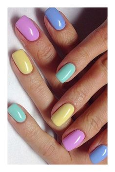 awesome acrylic coffin nails designs in summer 13 ~ Modern House Design Classy Nails, Simple Nails, Cute Nails, Pretty Nails, Shellac Nails, My Nails, Nail Art Designs Videos, Nagellack Trends, Easter Nails