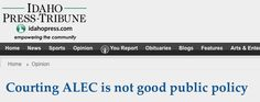 """Courting ALEC is not good public policy'"