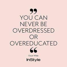 Spruch des Tages: Fashion-Sprüche von InStyle #instyle #instylegermany #quote #zitatdestages