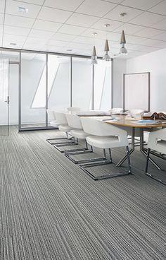 Interface | Modular Carpet Tile | Silver Linings | SL920 Grey Line