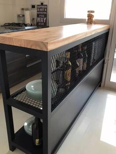 30 Nifty Small Kitchen Design and Decor Ideas to Transform Your Cooking Space - The Trending House Industrial Kitchen Design, Kitchen Interior, Kitchen Decor, Industrial Style, Industrial Cafe, Vintage Industrial Furniture, Western Furniture, Industrial Interiors, Industrial Lighting