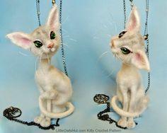 093 gato misterio con marco de alambre  archivo por LittleOwlsHut