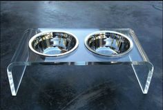 acrylic/lucite pet dog bed and pet dinning table $1~$3