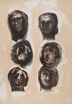 Artwork page for 'Six Heads Olympians', Henry Moore OM, CH, published 1983 Abstract Sculpture, Sculpture Art, Metal Sculptures, Bronze Sculpture, Pablo Picasso, Henry Moore Drawings, Sculpture Projects, Thing 1, Doodle Drawings