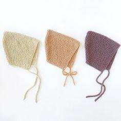 Ravelry: Garter Bonnet pattern by Destiny Meyer Knitting Short Rows, Baby Hats Knitting, Double Knitting, Newborn Knit Hat, Free Knitting, Baby Bonnet Pattern Free, Free Pattern, Sweater Knitting Patterns, Knit Patterns
