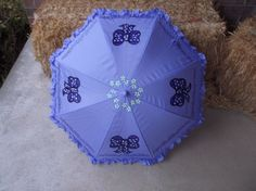 Ready to personalize Poppins Inspired Lavender Parasol Umbrella by LoRensRainorShine on Etsy