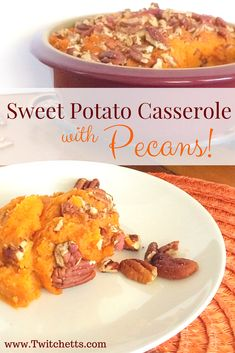 Thanksgiving sweet potatoes are a must for our spread! This Sweet Potato Casserole with Pecans is a nice twist if you want to skip the marshmallows this year.
