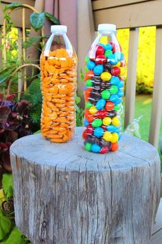 Crush-proof snacks - Keep crunchy bagged snacks safe from destruction by packing them in water bottles or other plastic containers.