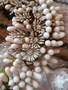 Elaborate French bride's wax wedding crown : tiara : antique period : French faded-grandeur | Ruby Lane Wax Flowers, Tiny Flowers, Orange Blossom Wedding, French Fade, The Crown, Ruby Lane, Green Leaves, Period, Romantic