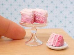 Miniature Dollhouse Pink Ombre Cake