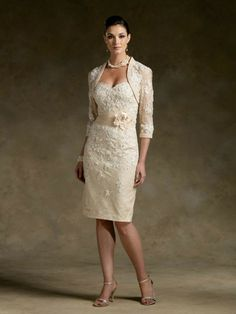 Short Champagne Lace maybe for MOTB or G. In a color not so close to white /off white