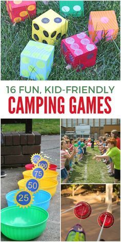 Taking the kids camping? Or hosting a summer camp? Here are some awesome group games for kids to play! All easy to set up and play in the sunshine!
