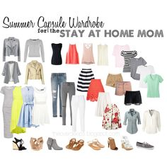 Summer capsule wardrobe of a stay at home mom. SAHM capsule wardrobe. Summer capsule wardrobe 2016.