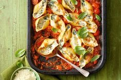 It's still cheesy and a real crowd pleaser, but the new lasagne – made with pasta shells – is easier to prepare, serve and, of course, eat!